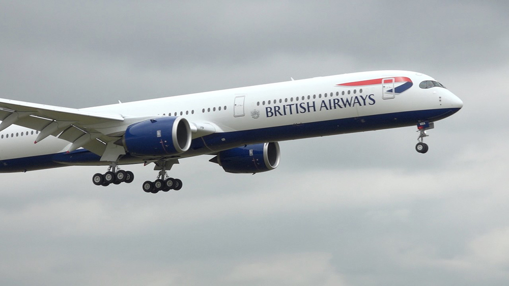 A British Airways 777 aircraft