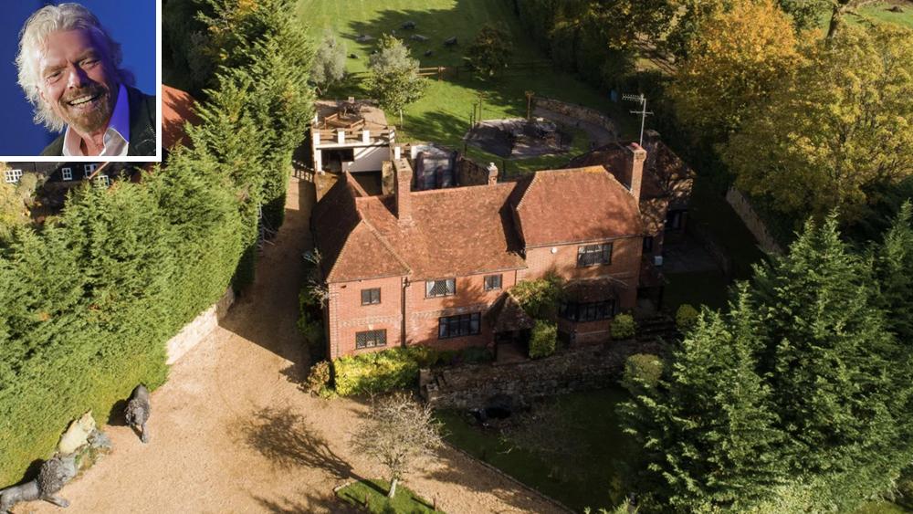 Richard Branson and Tanyard Farm