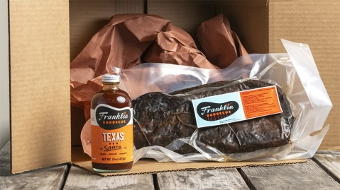 The contents of Franklin Barbecue's mail-order brisket package