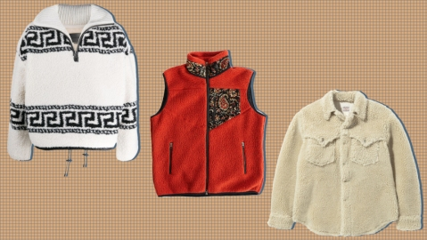 Fleeces from Isabel Marant, 18 East and The Real McCoys