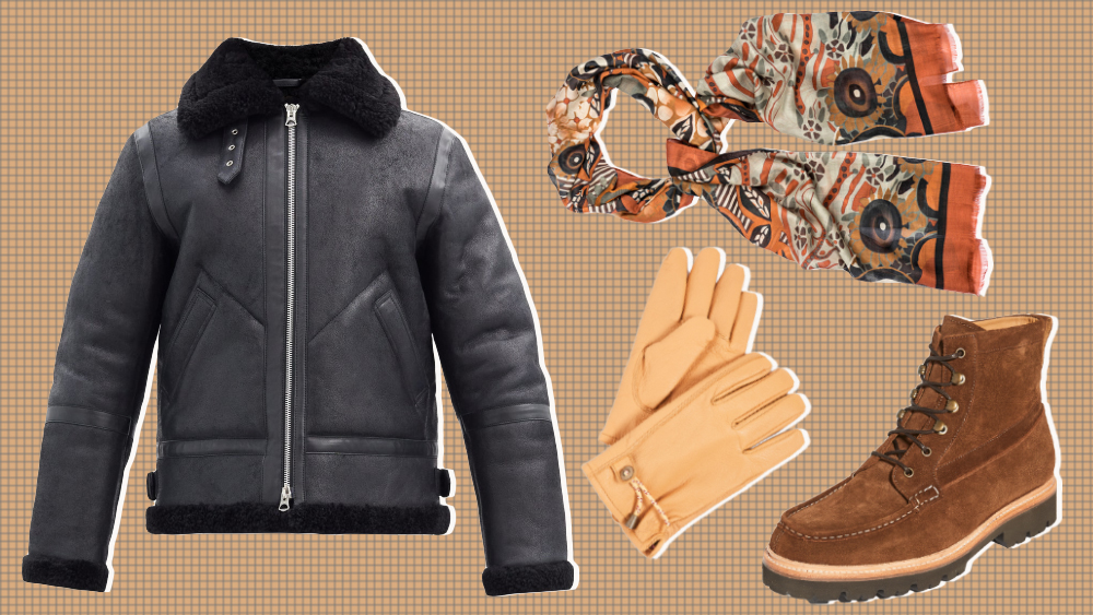 Acne Studios jacket, Cordone scarf, Grenson boots, Polo Ralph Lauren gloves