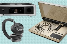 NAD M33 Streaming BluOS Amplifier, B&O 4000 Turntable, B&O Beoplay H95 Headphones