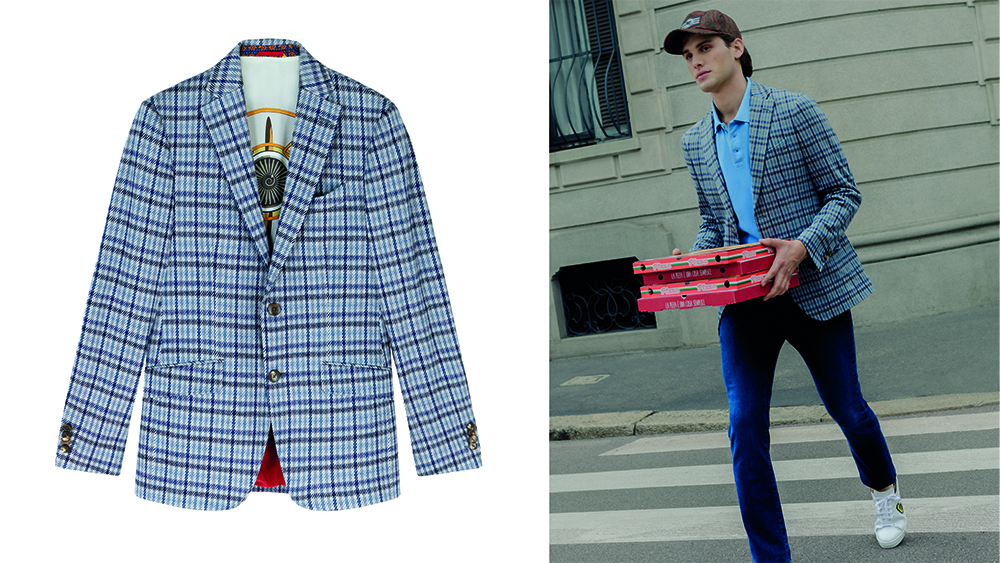 Etro's 24 Hour Jacket in checked jersey