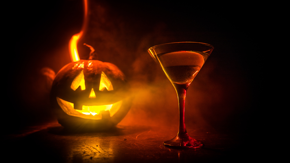 jack o lantern cocktail halloween