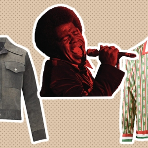 Maison Margiela suede jacket, James Brown, Casablanca silk shirt