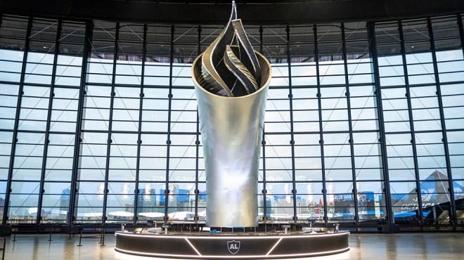 The Las Vegas Raiders's Memorial Torch