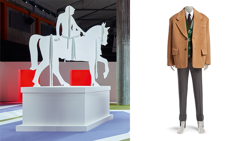 A Rem Koolhaas sculpture and menswear look from the auction.