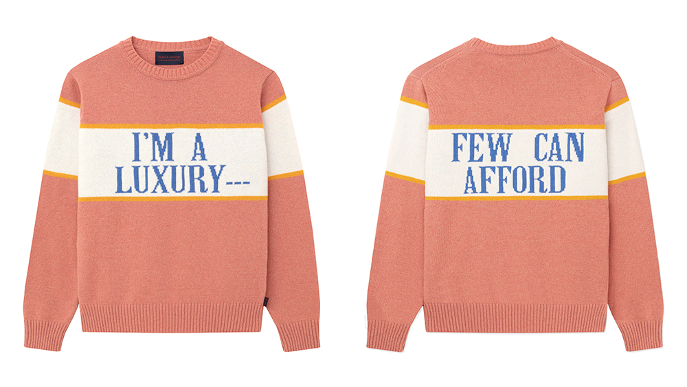 """The """"I'm A Luxury..."""" sweater."""
