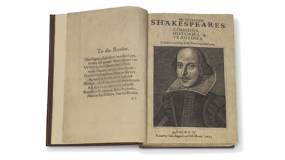 'Mr William Shakespeares Comedies, Histories, & Tragedies' (1623)