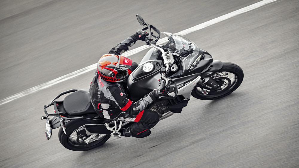 The Ducati Multistrada V4 S motorcycle.