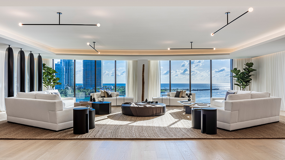 Inside a Design-Savvy $20 Million Florida Island Condo With Interiors by a Versace Designer