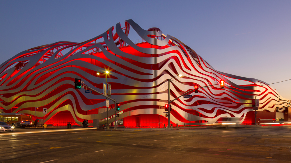 The Petersen Automotive Museum in Los Angeles.