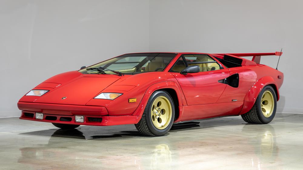 A 1988 Lamborghini Countach 5000QV.