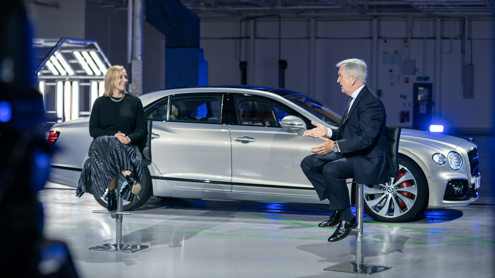 Bentley CEO Adrian Hallmark discusses the automaker's Beyond 100 plan.