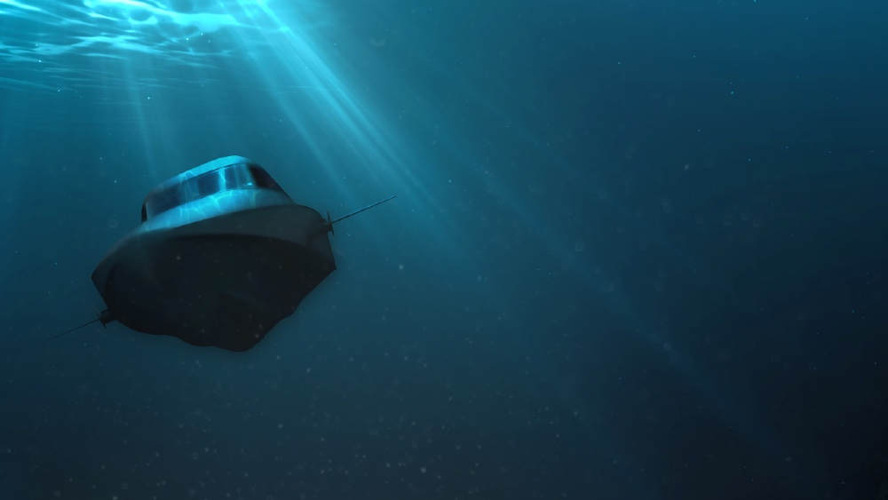 Victa is a speedboat that converts to a submersible