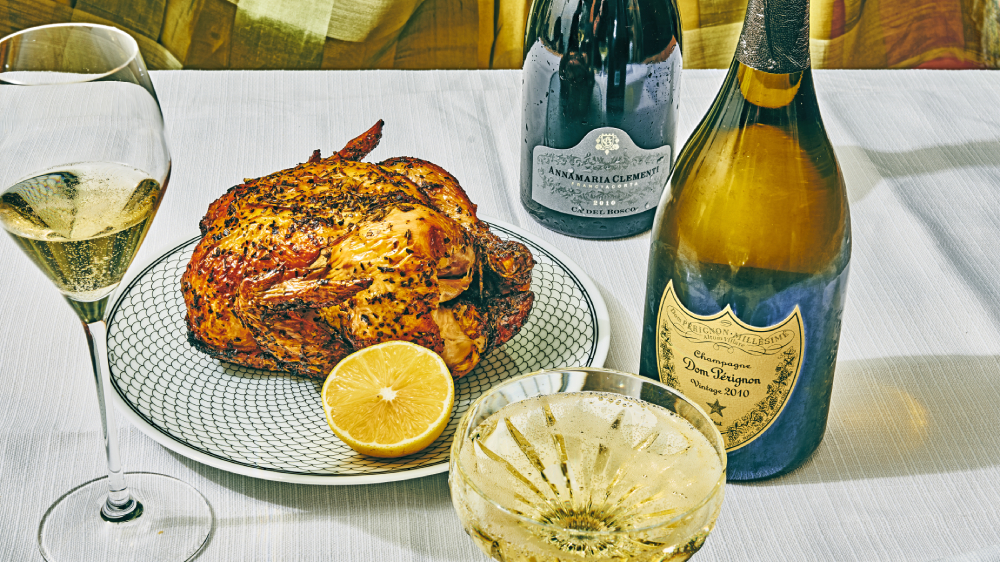 everyday champagne herb roasted chicken