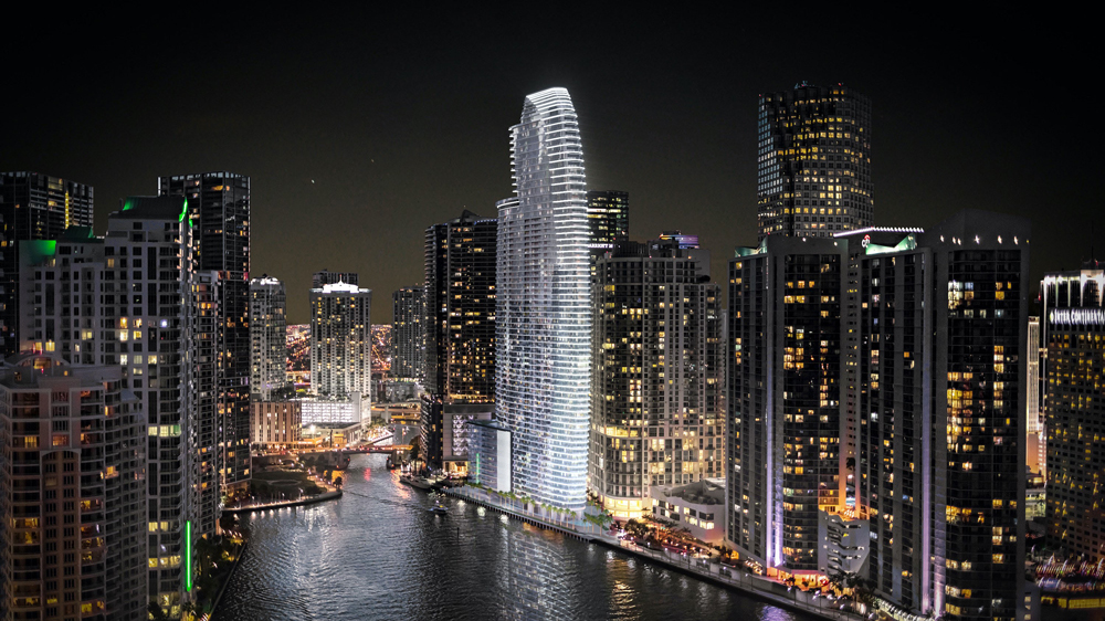 The Aston Martin Residences in Miami, an exclusive new addition to the city's skyline.