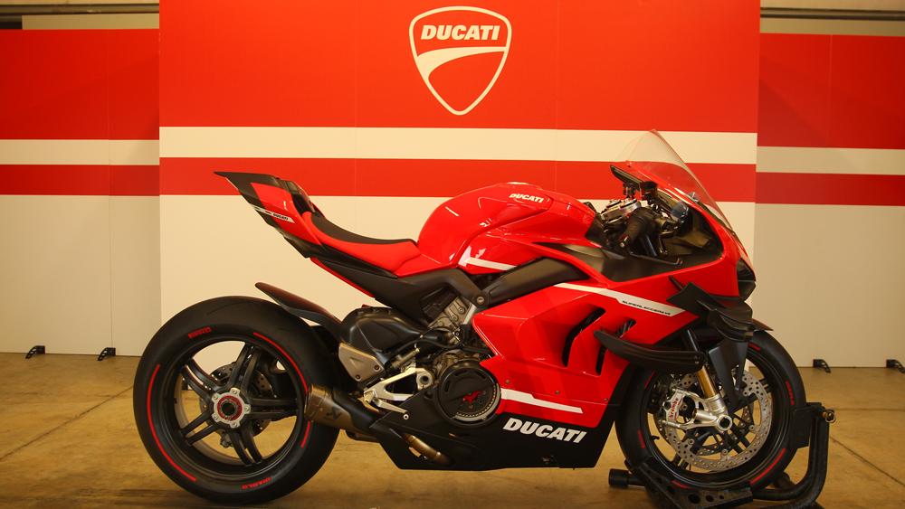 A $100,000 Ducati Superleggera V4.