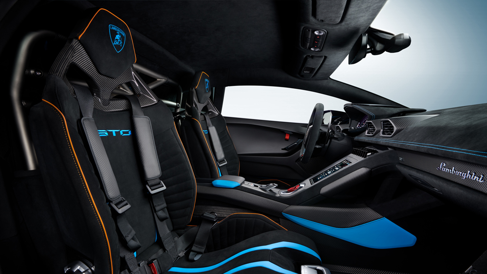 Inside the Lamborghini Huracán STO.