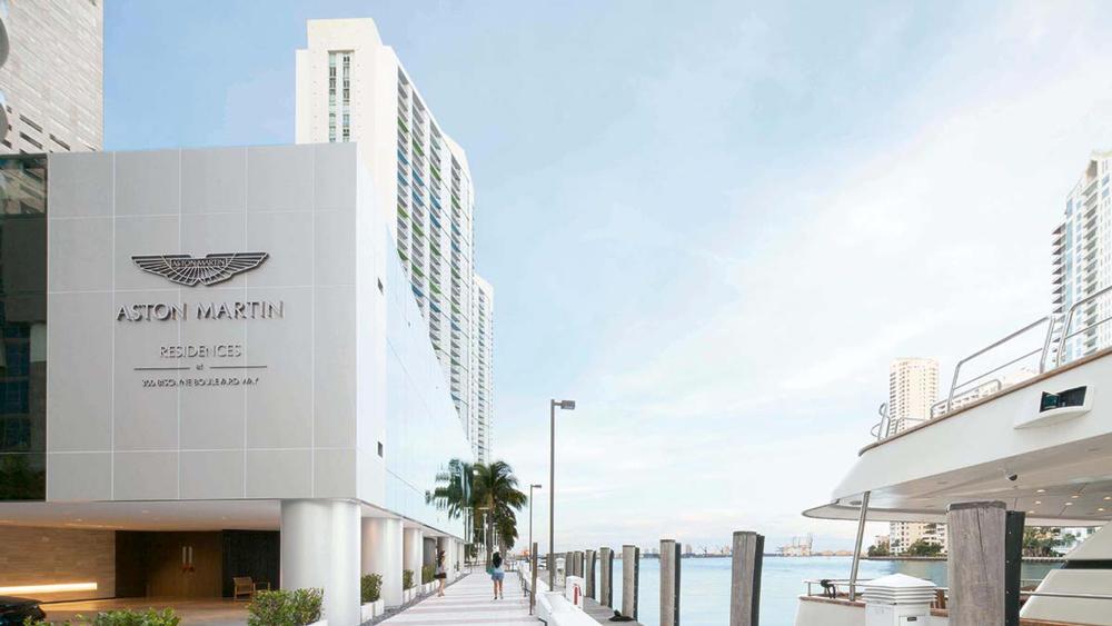 Aston Martin Residences on the Miami River.