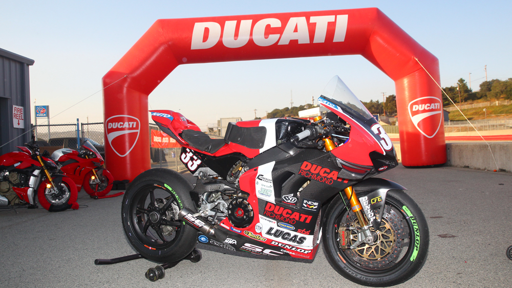 Racer Kyle Wyman's Ducati Panigale V4 R.