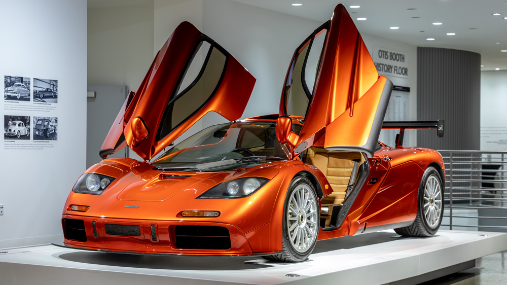 "The 1998 McLaren F1 ""LM-Specification"" on loan to the Petersen Automotive Museum."