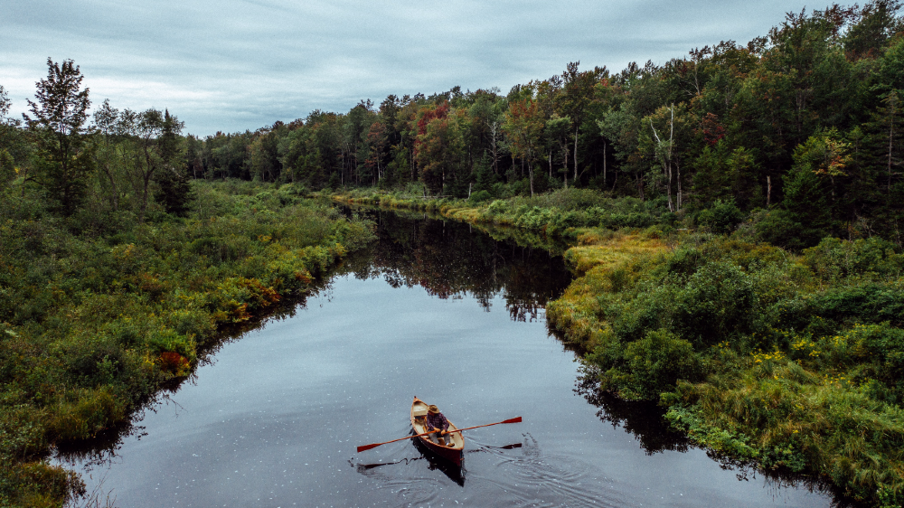 This Handcrafted Cedar Guide Boat is based on a classic design but is now an heirloom