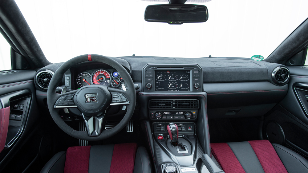 Inside the 2020 Nissan GT-R Nismo.