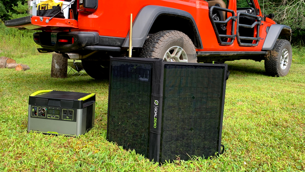 Goal Zero's lithium-ion battery pack and solar panel.