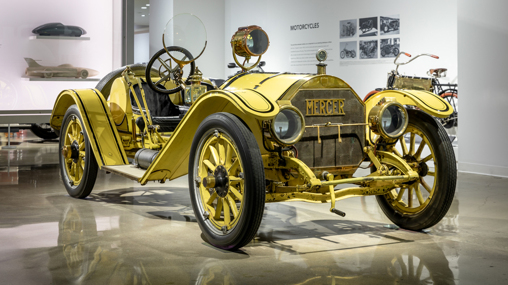A 1913 Mercer Type 35-J Raceabout.
