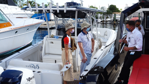 Boaters were eager to attend the Fort Lauderdale International Boat Show