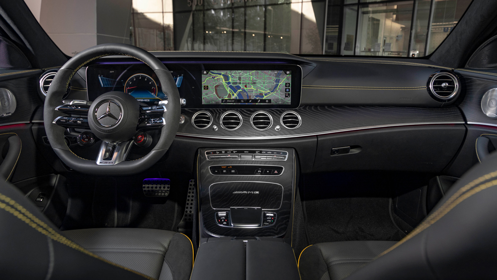 Inside the Mercedes-AMG E 63 S Wagon.