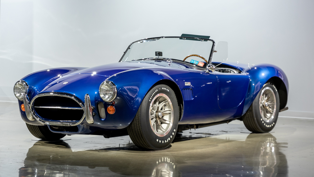 A 1967 AC Shelby Cobra 427 signed by Carroll Shelby.