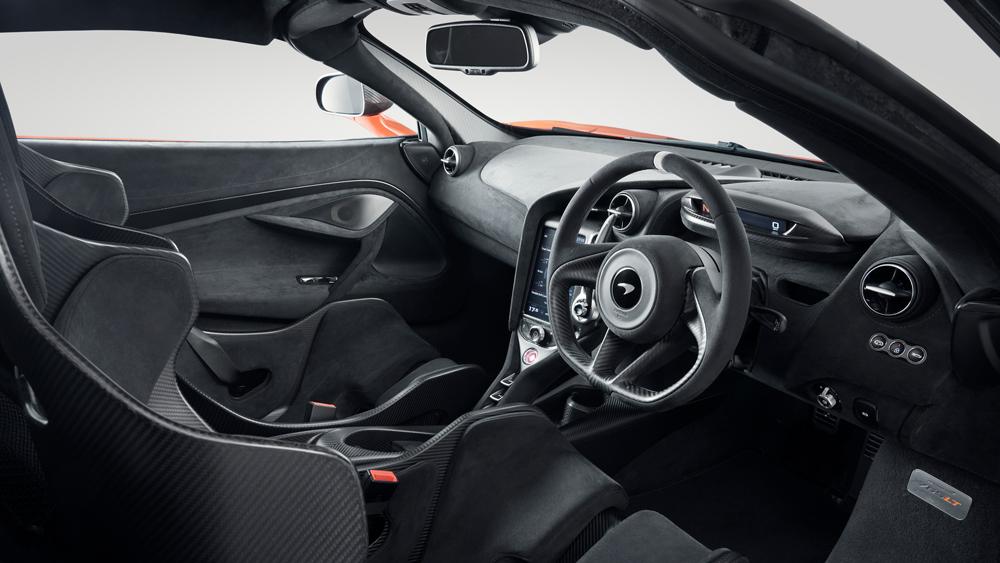 Inside the McLaren 765LT supercar.