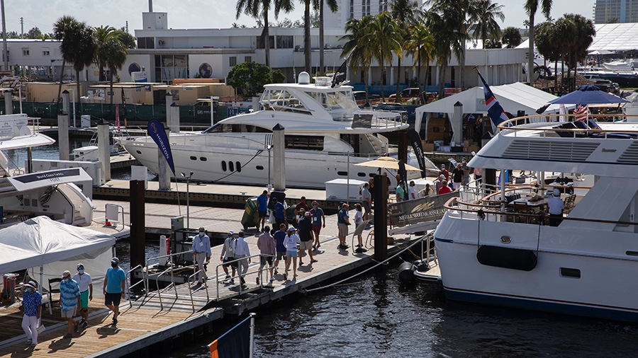 The buyers were enthusiastic at the Fort Lauderdale International Boat Show