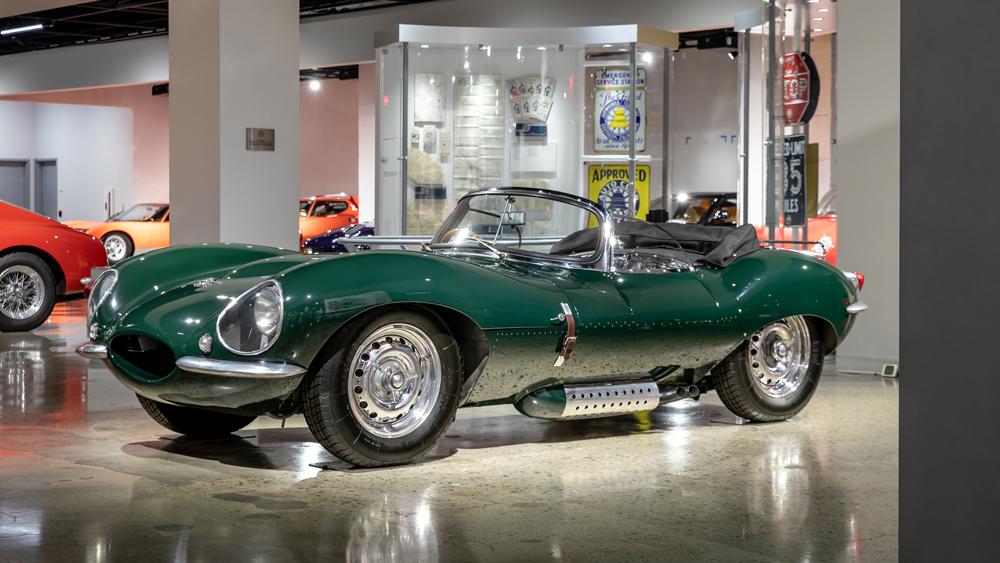 The 1956 Jaguar XKSS that once belonged to actor Steve McQueen.