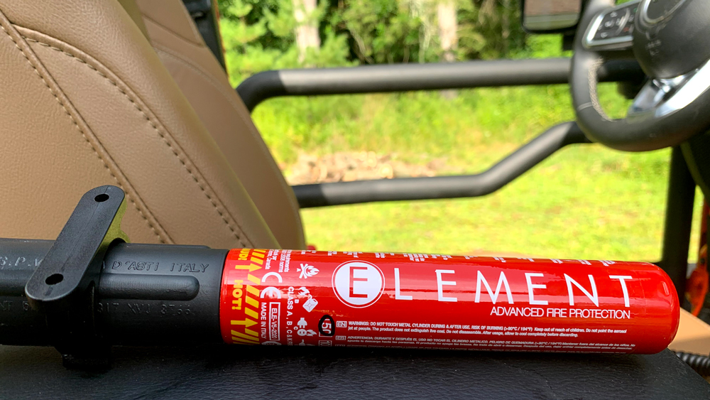 The Element E50 gives a 50-second shot of fire retardant.
