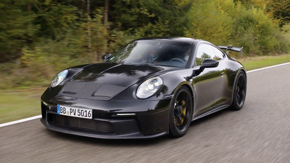 The New Porsche 911 GT3 Comes With Stick Shift, a Giant Wing and Plenty of Attitude