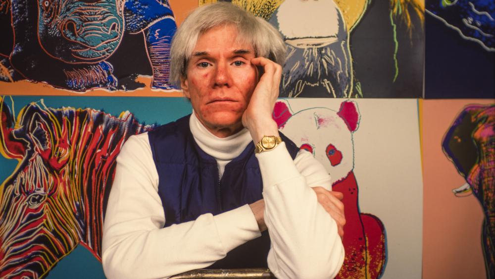 Andy Warhol watch portrait