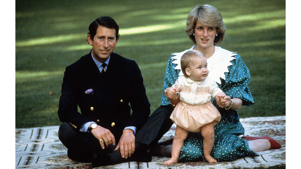 Prince Charles, Princess Diana and a young Prince William in 1983.
