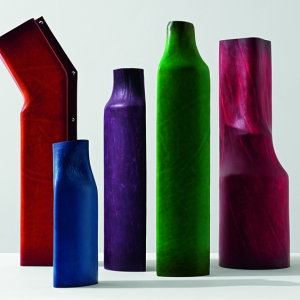Simon Hassan vases from the Berluti Objects collection.