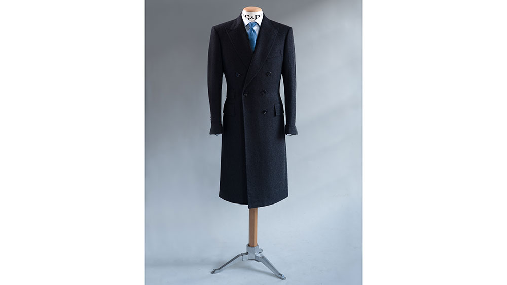 Cad and the Dandy Exclusive Outfitting for Bespoke Overcoat in Manhattan