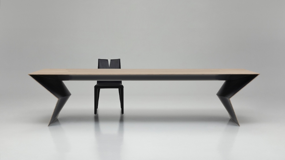This New Blitz Table by B&B Italia Uses Sustainable Bamboo Wood
