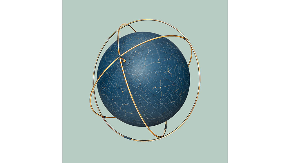 A new globe by Hermes shows many constellations