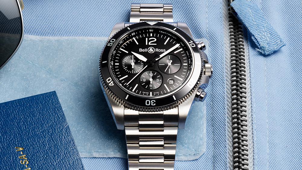 Bell & Ross BR V3-94 Black Steel chronograph