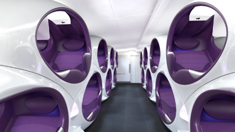 The Air Lair is a new concept for business class seating for commercial aircraft in the age of Covid-19