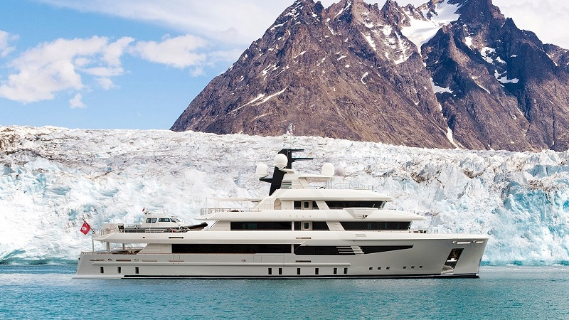 This 165-foot explorer yacht will cruise the world