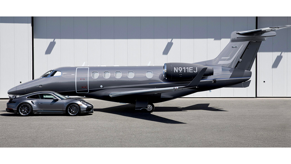 Embraer and Porsche announce the Duet, a custom business jet and supercar