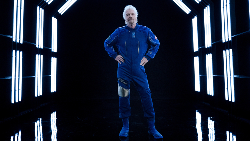 Virgin Galactic space suit Richard Branson