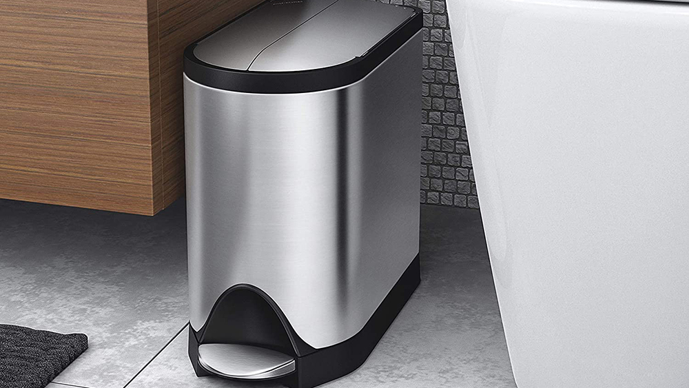The Best Small Trash Can On, Bathroom Garbage Can With Lid